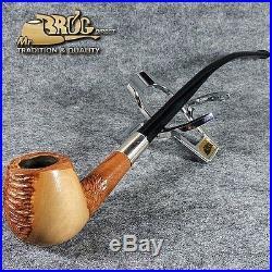 Mr. Brog original HAND MADE long smoking pipe nr. 59 natural HOBBIT UNIQUE