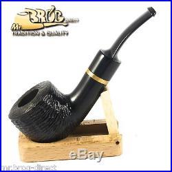 Mr. Brog original HAND MADE smoking pipe nr 43 black full carved KENTUCKY
