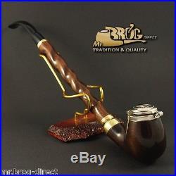 Mr. Brog original LONG smoking pipe nr. 13 brown DEZERTER Hand made in EUROPE
