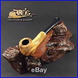 Mr. Brog original MINI smoking pipe nr 50 natural pattern HUANA OLIVE WOOD
