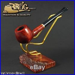 Mr. Brog original SMALL smoking pipe nr. 29 teak -straight stem CARO HAND MADE