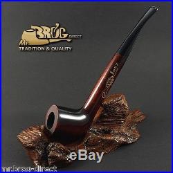 Mr. Brog original smoking pipe Indiana style shank JAZZ Brown Hand made