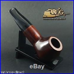 Mr. Brog original smoking pipe nr. 34 brown BULDOG HAND MADE Smooth classic