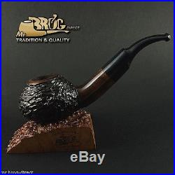 Mr. Brog original smoking pipe nr. 48 BROWN CARVED CHOCHLA HAND MADE IN EUROPE