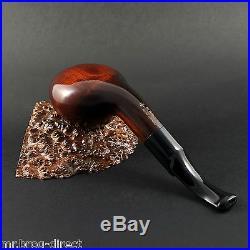 Mr. Brog original smoking pipe nr. 48 BROWN SW white ring CHOCHLA HAND MADE
