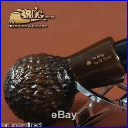 Mr. Brog original smoking pipe nr. 52 Brown carved SCOOT HAND MADE
