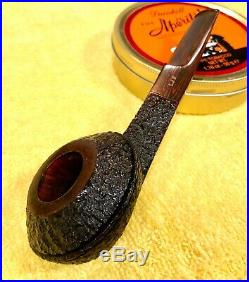 NOS Unsmoked Les Wood Ferndown Bark LJS Squat Bulldog Smoking Pipe Cumberland