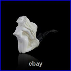 Naked Lady Meerschaum Pipe hand carved, smoking pipe tobacco pfeife with case