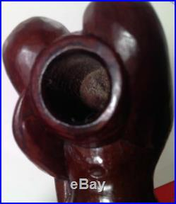 Naked / Nude Woman Carved Wood Tobacco Smoking Pipe Vintage 1940s UNSMOKED