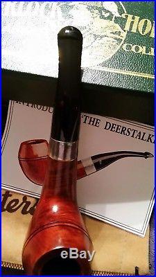 New Peterson Sherlock Holmes The Deerstalker Smooth Tobacco Pipe