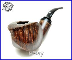 New Smoking Pipes Wooden Carved (Freehand with white lined single groove stem)