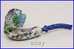 Nording Harmony Botanic Garden Free Hand Briar Smoking Pipe with pouch B1144