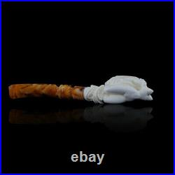 Nude Lady Meerschaum Pipe hand carved, smoking pipe tobacco pfeife with case
