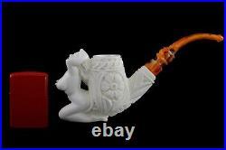 Nude Lady Smoking Pipe Block Meerschaum-NEW Handmade Custom Made Fitted Case1118