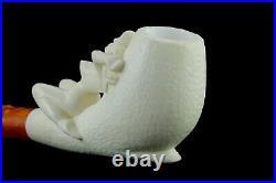 Nude Lady Smoking Pipe Block Meerschaum-NEW Handmade Custom Made Fitted Case#382