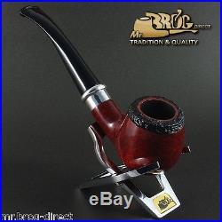 OUTSTANDING HAND MADE Mr. Brog original smoking pipe nr. 85 teak RING SCHMIDT