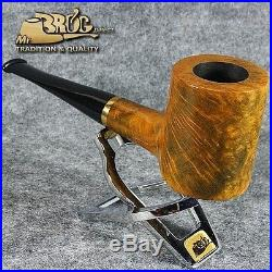 OUTSTANDING HAND MADE Mr. Brog original smoking pipe smooth POKER Amber