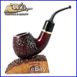 OUTSTANDING Handmade Mr. Brog original smoking pipe nr. 60 carved GUARDIAN Rubin