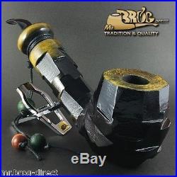 OUTSTANDING Mr. Brog original BIG smoking pipe QUBRYC TOPAZ edit MODERN