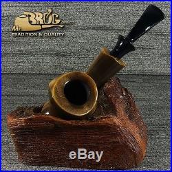 OUTSTANDING Mr. Brog original hand made smoking pipe SEAHORSE heverriano