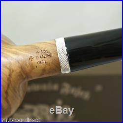 OUTSTANDING Mr. Brog original smoking pipe DIAMOND OLIVE & GIFT BOX RARE
