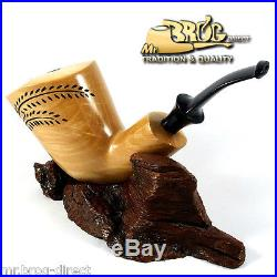 OUTSTANDING Mr. Brog original smoking pipe XL natural LEAF GIANT HAND MADE