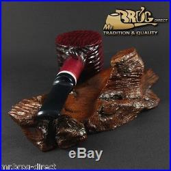 OUTSTANDING Mr. Brog original smoking pipe no. 62 Hammer red LUMBERJACK DWARF