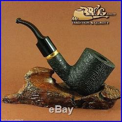 OUTSTANDING Mr. Brog original smoking pipe nr. 112 BENT MORTA HABIT BOG OAK