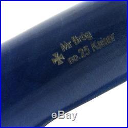 OUTSTANDING Mr. Brog original smoking pipe nr. 25 BLUE KAISER Hand made RARE