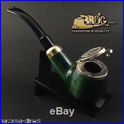 OUTSTANDING Mr. Brog original smoking pipe nr. 25 green KAISER Hand made in EU