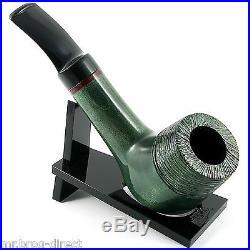 OUTSTANDING Mr. Brog original smoking pipe nr. 51 GREEN bowl half carved AMIGO