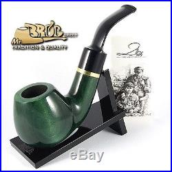 OUTSTANDING Mr. Brog original smoking pipe nr. 60 green smooth GUARDIAN