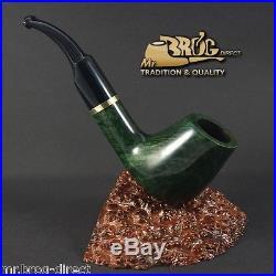 OUTSTANDING Mr. Brog original smoking pipe nr. 67 green classic FULL BENT briar