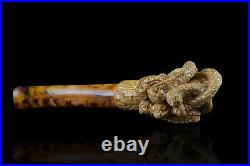 Octopus Skull Meerschaum Pipe Unique hand carved tobacco smoking with case