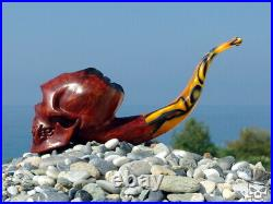 Oguz Simsek Briar Figural Smoking Pipe POLYPHEMUS SKULL pipa pfeife meerschaum