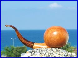 Oguz Simsek Briar Wood Smoking Pipe BALL meerschaum pipa pfeife NEW