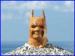 Oguz Simsek Olive Wood Figural Smoking Pipe BATMAN SKULL meerschaum pfeife