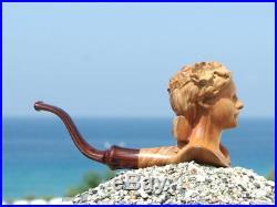 Oguz Simsek Olive Wood Smoking Pipe CHILD pipo pipa pfeife meerschaum