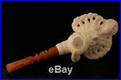 Old Man Smoking a Meerschaum Pipe of Himself by I. Baglan in case 8358