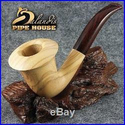 Outstanding BALANDIS original tobacco smoking pipe Handmade CALABASH Olive wood