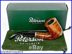PETERSON Kinsale XL20 Smooth Briar Tobacco Pipe Bent Billiard Fishtail