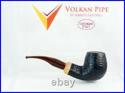 PIPA VOLKAN RADICA Calypso sabbiata Tobacco Pipe 9mm filter pfeife