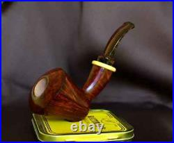 PIPEHUB Sergey Akimov Bent Dublin Sitter Smoking Pipe