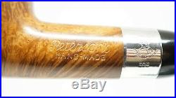 PIPEHUB Unsmoked! Peterson Hand Made XXL Billiard Smoking Pipe W. Silver Band