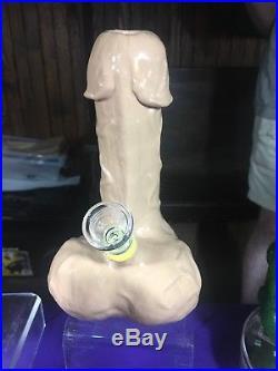 Penis Glass Smoking Water Pipe! Glow in the dark! 8 Hand Made USA