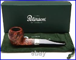 Peterson Aran 150 Nickel Mounted Bulldog Smoking Pipe withFishtail Stem 3003K