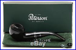 Peterson Killarney Ebony 999 Tobacco Pipe Fishtail