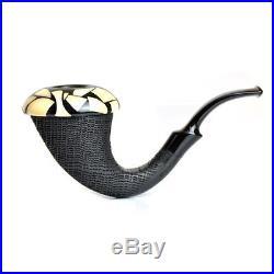 Pipa Calabash Mimmo Provenzano Quercia Fossile Morta Collection Smoking Pipe Ita