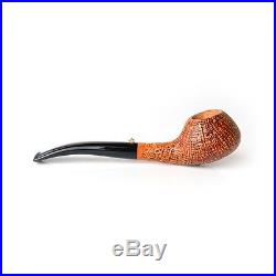 Pipa L'Anatra Sabbiata SMOKING PIPE HANDMADE ITALY BRIAR PFEIFE semicurva