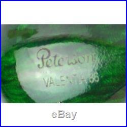 Pipa Radica Verde Smoking Pipe Pfeife Peterson Valentia 86 Green Silver Mounted